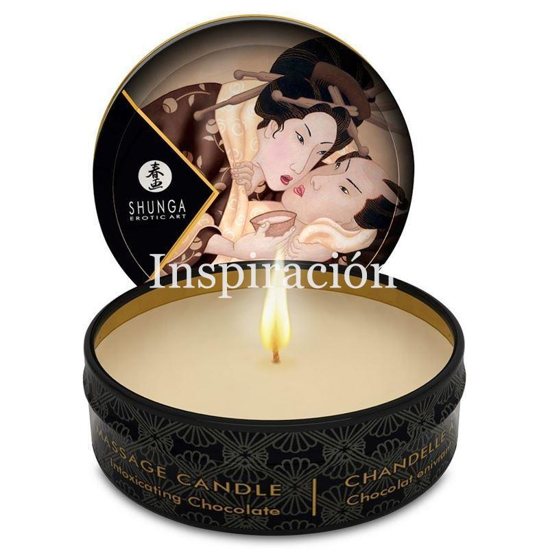 Mini vela de masaje. Chocolate - SHUNGA - Massage candle. - Imagen 1